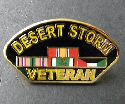 Desert Storm Veteran Combat Vet USA Lapel Hat Pin Badge 1.2 inches