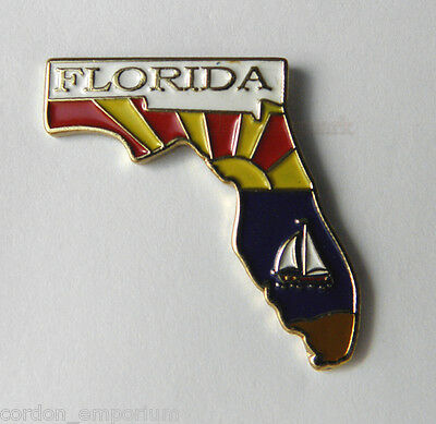 Florida Us State Map Lapel Pin Badge 1 Inch