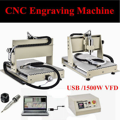 USB 1500W VFD 6040 3 Axis CNC Router Engraver Drill mill Engraving Metal Cutter