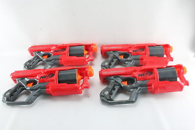 Lot of (4) Nerf Mega Cycloneshock Foam Dart Blasters Toy Guns