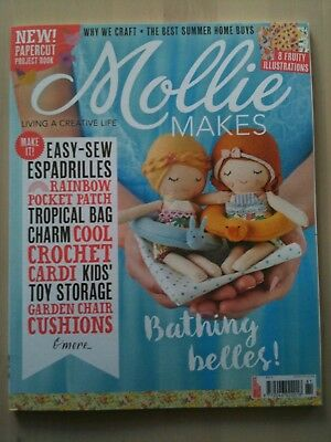 Mollie Makes Magazine Issue 81 June 2017 with Free Gift, Paper Cut Book Craft