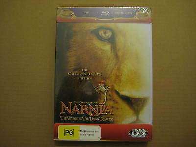 NARNIA The Collector's Edition RARE 3 x DVD / BLU-RAY / DIGITAL BOX SET 2010 OOP