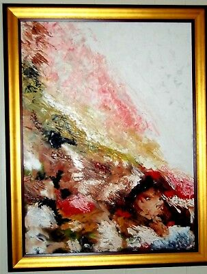 Large Abstract Oil Painting , Layers of Life ' , by Michael Faulkner