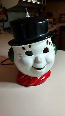 Vintage light up Snowman Head by underwriters Laboratories Inc.