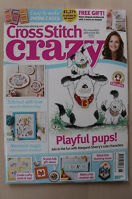 Cross Stitch Crazy Magazine Issue 226 Mar 2017 with Free Gift, XS Heart Necklace