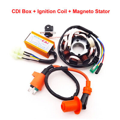 Racing Magneto Stator Ignition Coil CDI For ATV Scooter Go Kart GY6 125cc 150cc