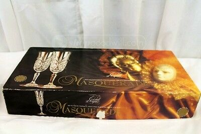 6 Cristal D'arques Masquerade Of France 24% Lead Crystal Champagne Flutes