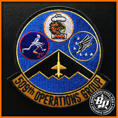 509Th Operations Group Embroidered Patch 13 Bs, 393 Bs, 509 Oss, B-2 Whiteman