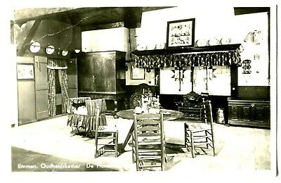 rppc~Netherlands interior view of stage setting~CAN'T READ GERMAN?or?  GREAT CLE