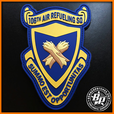 106Th Air Refueling Squadron Pvc Patch Kc-135R Alabama Ang Birmingham Full Color
