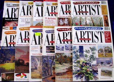 AUSTRALIAN ARTIST  12 MAGAZINES     drawing & painting