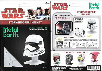 Star Wars StormTrooper Helmet Metal Earth 3-D Laser Cut Steel Model Kit #MMS316