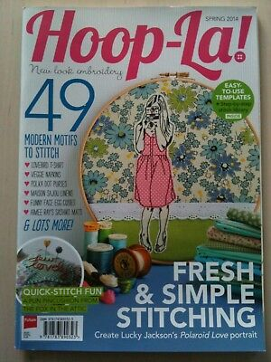 Hoop-La! Magazine Spring 2014 Needlepoint Embroidery Cross Stitch Craft Hoops