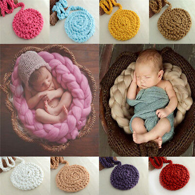 Handmade Photography Props Rug Newborn Baby Backdrop Soft Blanket Infant Props