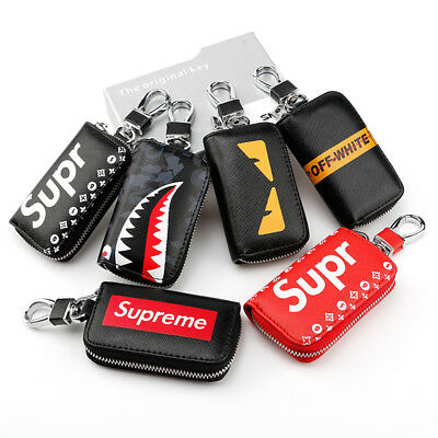 Universal Leather Car Key Shell Fob Holder Cover Bag Wallet Bmw Benz Audi Vw Etc