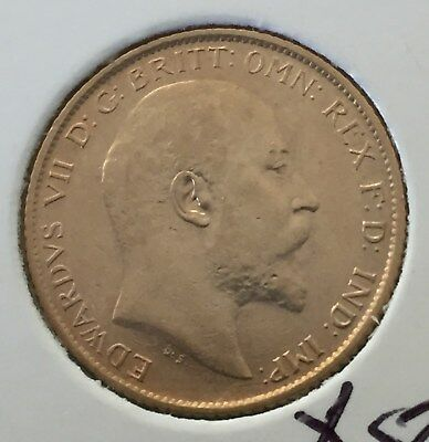 1910 GB Gold Half Sovereign Great Gift