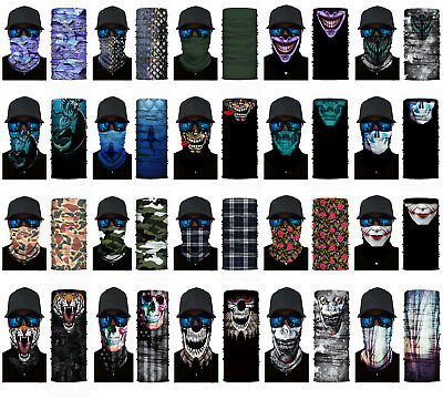 Face Balaclava Scarf Neck Fishing Shield Sun Gaiter Uv Headwear Mask 20 Styles