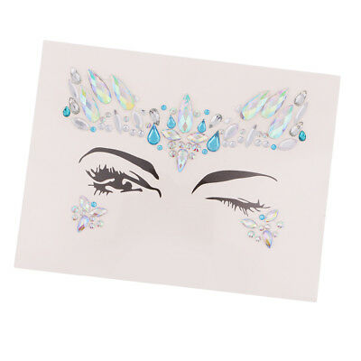 Make up temporäre Tattoo Gesicht Kunst Jewel Strass Körper Glitter Wange