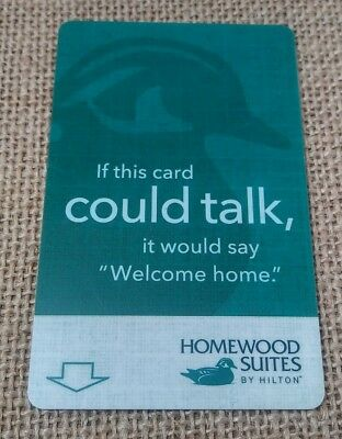 Homewood Suites By Hilton Hotel Key Card Plastic Wood Duck Green Used