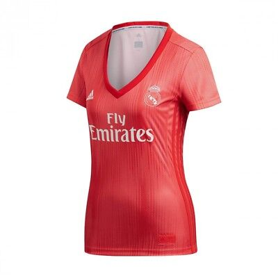 Maillot adidas Real Madrid Third 2018-2019 Femme JSY Real coral-Vivid red 41acbd797141b