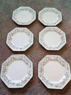 "Eternal Beau Johnson Brothers side plates x6 7.5"" diameter"