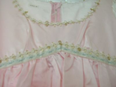Pink and ivory satin princess dress handmade SIZE 10
