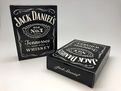 Pair Of Jack Daniels 6 Oz Stainless Steel Hip Flasks -  6Oz Ounce Pub Bar Two X2