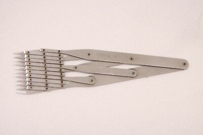 Theo Alteneder & Son 11-Point Equal Spacing Dividers Tool