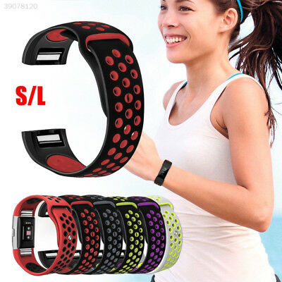 For Fitbit Charge 2 HR Replacement Silicone Bracelet WristBand Strap Watch L/S