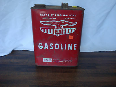 Vintage Eagle 2gallons Gasoline Metal Tank unused