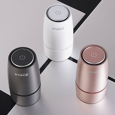Portable Car Air Purifier Air Cleaner Lonizer with HEPA & Active Carbon Filter