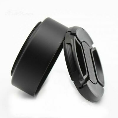 52mm Screw Standard Metal Lens Hood for Canon Nikon Pentax Sony Olympus+cap