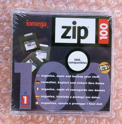 Brand New Iomega Zip Disk 100MB IBM-Compatibles PC Formatted Factory Sealed