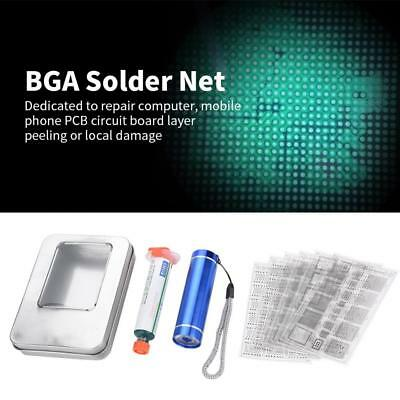 Solder Mask Net Reball Stencil for Iphone PCB Repair Paint-Shedding Tool Kit ZY