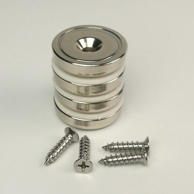 1PC 41KG Strong Neodymium Disc Magnet D32mm Cup Magnet Tool Hold Screws Include