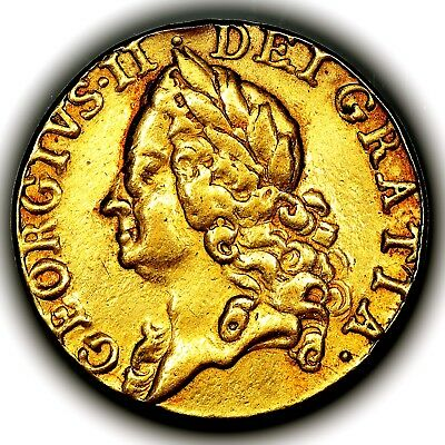 1758 King George II Great Britain Gold Guinea Coin