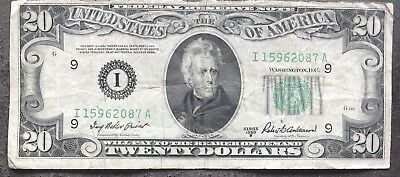 USA 20 Dollar 1950 B Federal Reserve Note I Minneapolis Guter Zustand #9346
