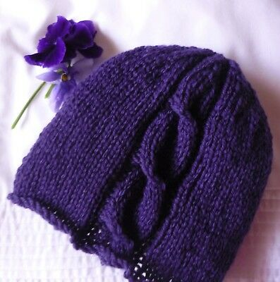 Small Adult Beanie / Hat. Hand-knitted by me. 100% Pure New Australian Wool.
