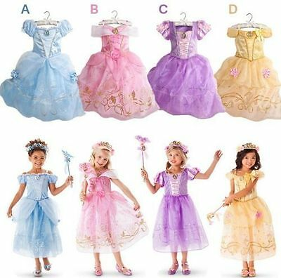 Princess Dress Costumes Girls Aurora Sandy Rapunzel Belle Party Fancy Gift Kids & AURORA SLEEPING BEAUTY Disney inspired Dress Princess costume Girls ...