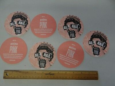 7 x ALL HAIL BEEFEATER PINK AUSTRALIA BEER COASTERS