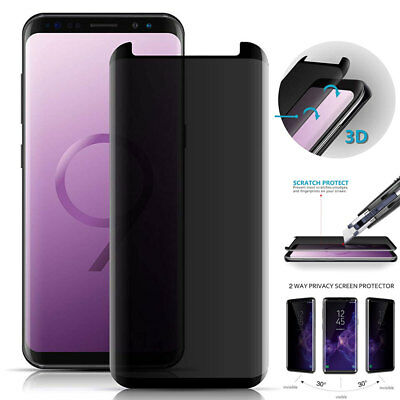 Anti-Spy 9H Screen Protector for SAMSUNG GALAXY Note 9 /S9 S8+ Temper Glass Film