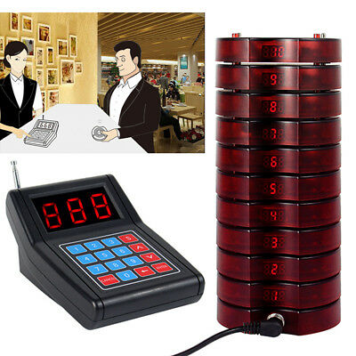 Restaurant Wireless Paging Queuing Calling System + 10/20 Call Coaster Pager AU