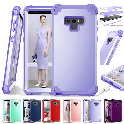 360 Hybrid Armor Shockproof Bumper Case Cover For Samsung Note 9/S8 S9 Plus Skin