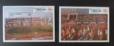 Gambia 1990 Olympic Games Barcelona football  MS MS1077 UM MNH unmounted mint