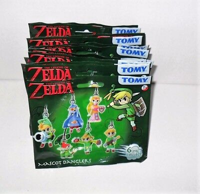 Tomy The Legend Of Zelda Mascot Danglers Lot Of (12) Packs New
