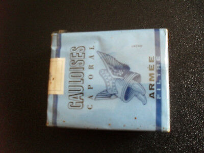 Militaria paquet de cigarettes Gauloises. Ration armée sous blister collection