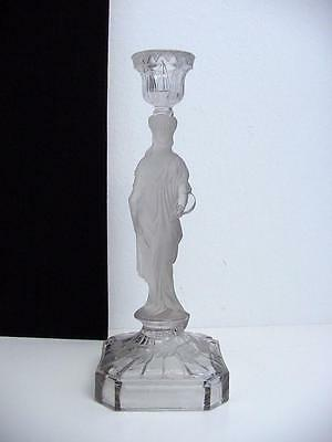antique glass candle stick vallerysthal