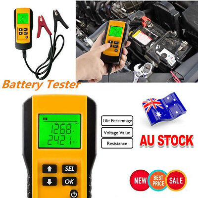 12V LCD Digital Display  Automotive Car Battery Tester Analyzer Load Tester Tool