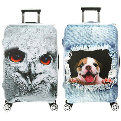 DIY Luggage Cover Protective 3D Suitcase Protector Covers with Zipper for Travel