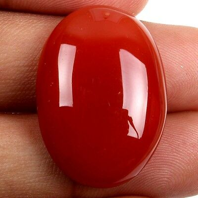 Charming 29x20 mm CARNELIAN Oval Cabochon Loose Gemstone For Ring 35 Cts s-26194